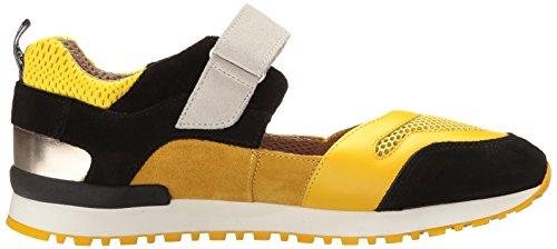 Love Moschino - Sandalias deportivas de Piel para mujer amarillo GIALLO-NERO