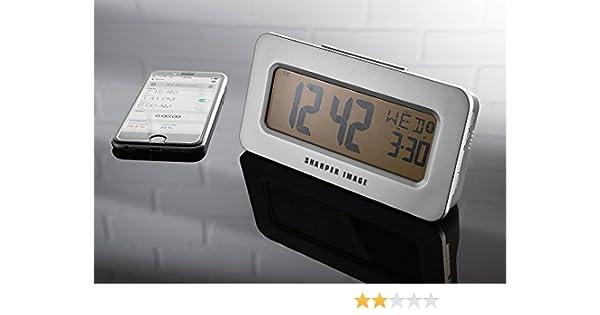 Amazoncom Sharper Image Smartphone App Controlled Alarm Clock
