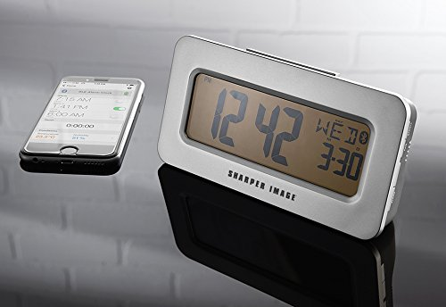 sharper image sound machine projection alarm clock manual
