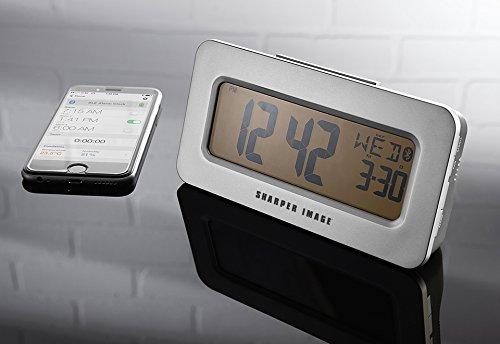 sharper image sound machine projection alarm clock