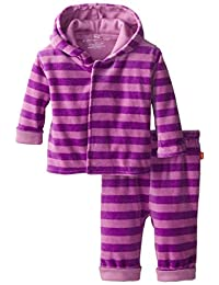 Magnificent Baby Baby-Girls Infant Velour Hoodie and Pants, Pink/Lavender, 3T