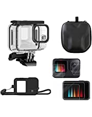MOUNTDOG 5-in-1 Action Camera Accessories for Gopro Hero 9 Black with Waterproof Case, 2 Sets Screen Protectors, Silicone Protective Case, and Portable Camera Bag, Great to Offer Protection for GoPro Hero 9 Black Action Camera