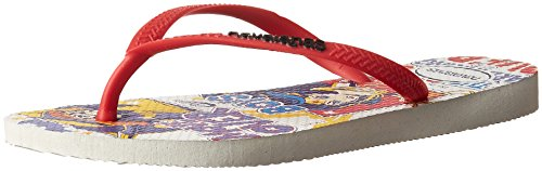 HavaianasKids DC Super Hero Girls Sandal, White 27/28 BR/Little Kid (11/12 M - White Kids Havaianas