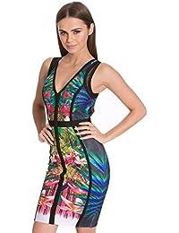 Vestidos Ropa De Moda 2017 Para Mujer De Fiesta y Noche Elegante (M, Black) VE0022