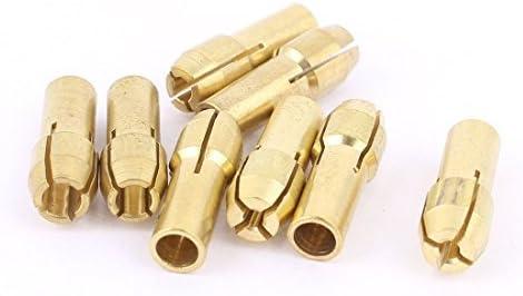 Tono herramienta Collet DealMux 1 mm 1,6 mm 2,3 mm 3,2 mm Dia 8 piezas de lat/ón de oro