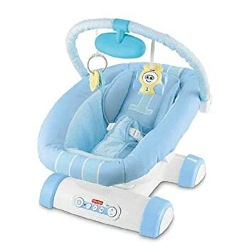 Fisher Price Cruisin Motion Soother Blue Car Portable Baby Bouncer Chair