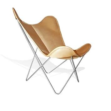 WEINBAUMS Hardoy Butterfly Chair Leder Honigbraun