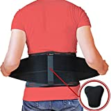 AidBrace Back Brace for Lower Back Pain Relief for Men & Women - Comfortable Belt Support for...