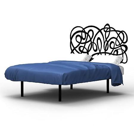 Cabecero de Forja JEREZ MURAL para colchón de 150 cm, color blanco mate