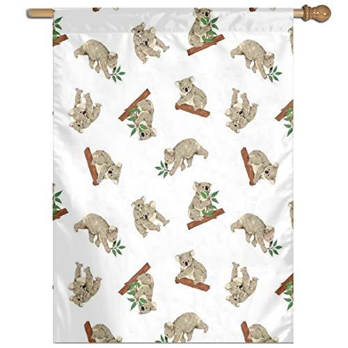 YUANSHAN Single Print Home Garden Flag Australian Koala Baby Polyester Indoor/Outdoor Wall Banners Decorative Flag 27
