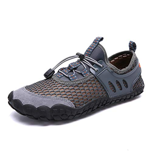 AFT AFFINEST Mens Womens Water Shoes Outdoor Hiking Sandals Aqua Quick Dry Barefoot Beach Sneakers Swim Boating Fishing Yoga Gym(Grey,40)