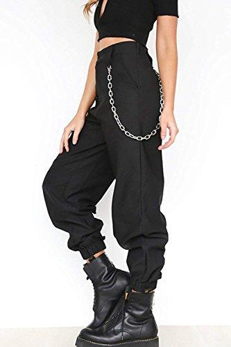 Color Cintura Alta Placket Otoño Marca Pantalones Bolsillos Mujer Outdoor De Mode Sólido Múltiples Elasticos Anchos Con Cremallera Elegantes Largos Harem Verde Primavera zARwHH
