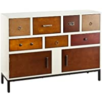 Southern Enterprises Devlin Console Credenza, Vanilla Cream with Assorted Wood Finish