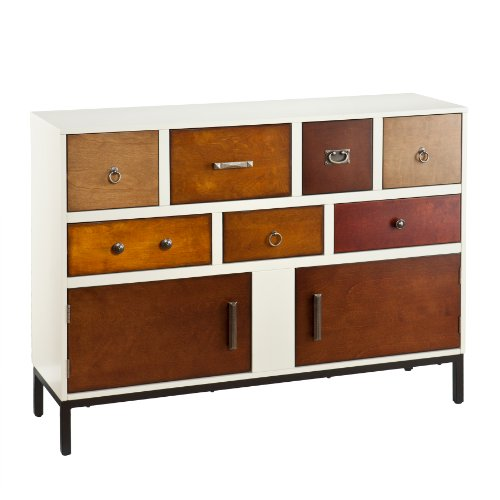Devlin Console Credenza - Assorted Wood Finish - Midcentury Modern - Modern Office Table Console