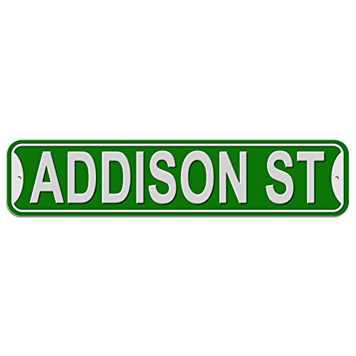 Addison St Street Sign - Plastic Wall Door Street Road Male Name - Green
