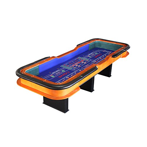 12 Foot Deluxe Craps Dice Table with Diamond Rubber Blue by IDS Home
