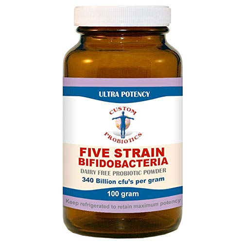 Five Strain Bifidobacteria Probiotic Powder by Custom Probiotics (100 Gram)