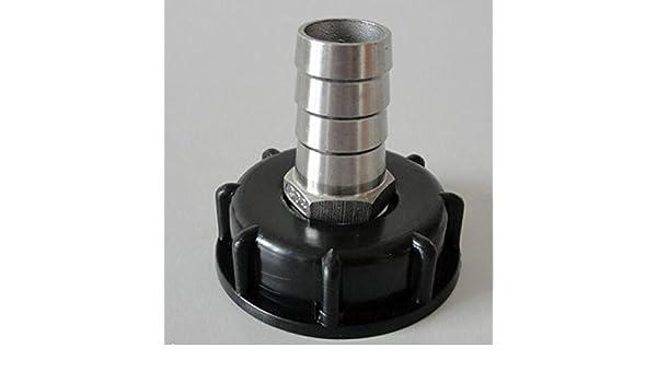 1000L IBC depósito de agua para manguera de acero inoxidable ...