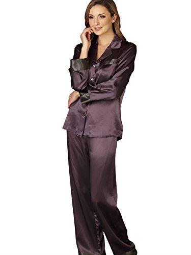 Julianna Rae Women s 100% Mulberry Silk Pajama Set 08ccb0e53