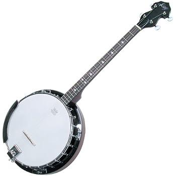 "Kay KBJ40 Tenor Banjo ""Irish Rose"" 4 String Banjo with Tuner and Strap!"