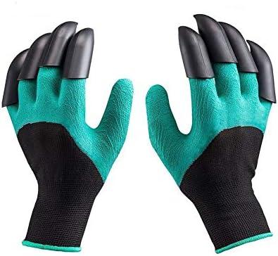 Guantes de jardín, AINOLWAY, guantes de jardinería impermeables, guantes de trabajo de seguridad con garras seguras para plantar, cavar y malas hierbas, 1 par: Amazon.es: Bricolaje y herramientas