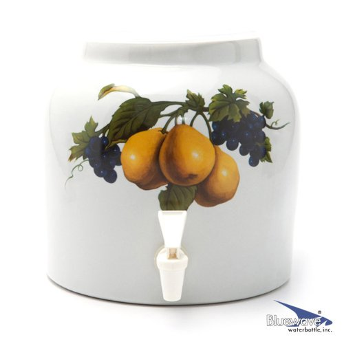- Bluewave Pear Design Beverage Dispenser Crock