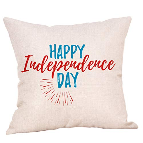 OrchidAmor 1Pcs Decor Cushion Cover Independence Day Style Throw Pillowcase Pillow Covers 2019 -
