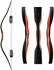 Toparchery Archery 60'' Longbow Outdoor Hunting Recurve Bow One Piece Traditional Wood Bow Right/Left
