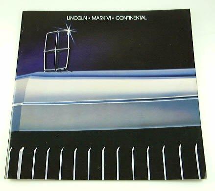 1983 83 LINCOLN BROCHURE Mark VI Continental Limos