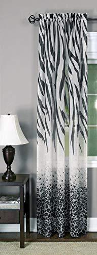 - Ben & Jonah PrimeHome Collection Kenya Window Curtain Panel-50x84-Black/Multi, Black/Multi