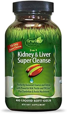Irwin Naturals Kidney & Liver Super Cleanse, 60 SoftGels