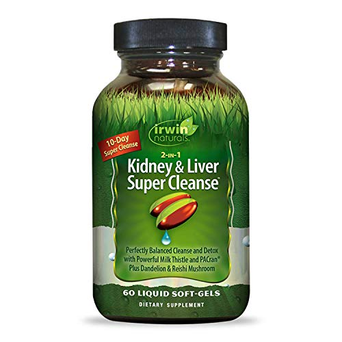 Irwin Naturals Kidney & Liver Super Cleanse, 60 SoftGels (Best Natural Liver Cleanse)