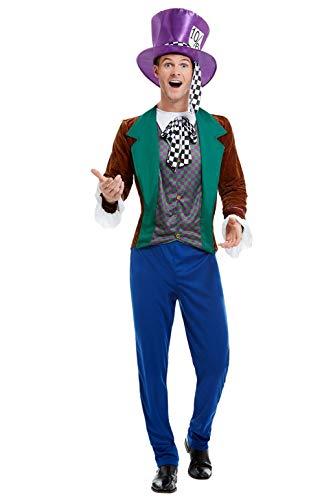 Smiffys 50729M Mad Hatter Costume, Men, Multi-Colour, M