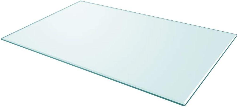Vislone Cristal Cuadrado Tablero de Mesa Templado de Cristal para Mantener Superficie de Mesas de Comedor Mesas de Café Mesas de Jardín Transparente 1000x620mm