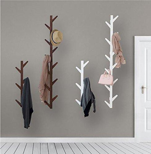 Ymj Coat Rack Garment Hanger Creative On The Wall Solid Wood Hook Hanger Bedroom Wall Living Room Wall Hanger Drying Racks (Color : B, Size : 72278cm) by Ymj (Image #7)