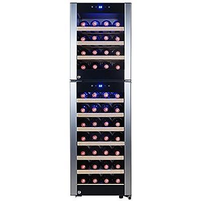 FIREBIRD 53 Bottles Dual Zone Compressor Touch Control Adjustable Temperature Freestanding Wine Cooler Chiller Refirgeator