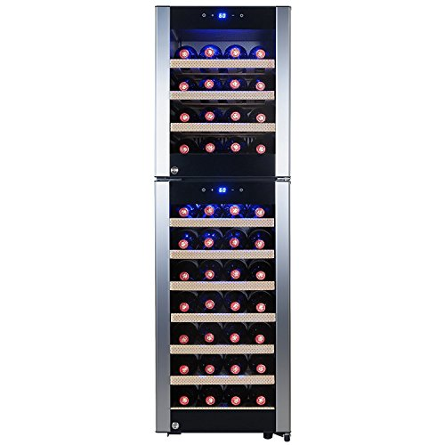 FIREBIRD 53 Bottles Dual Zone Compressor Touch Control Adjustable Temperature Freestanding Wine Cooler Chiller Refirgeator