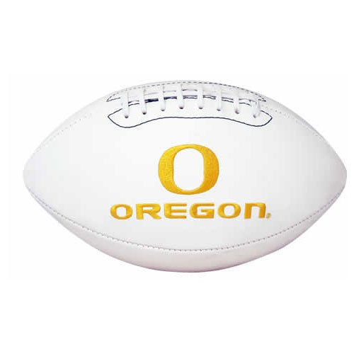 NCAA Signature Series College-Size Football (Leather Embroidered Ducks)