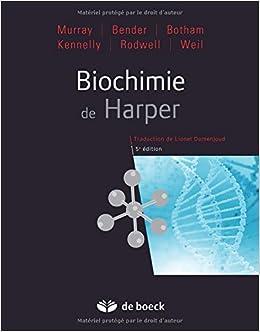 biochimie de harper gratuit pdf
