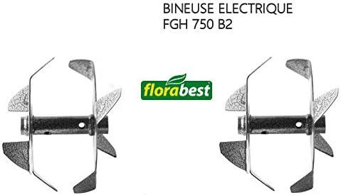 FRAISES POUR BINEUSE ELECTRIQUE FLORABEST FGH 750 B2