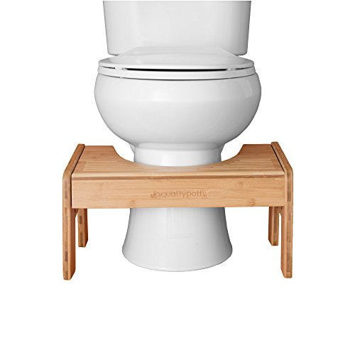 Squatty Potty The Original Adjustable Height Bathroom Toilet Stool- Tao Bamboo by Squatty Potty (Image #2)