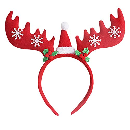 Price comparison product image Euone  Hair Bands Clearance , Christmas Bow Headband Tiara Party Decorations Snow Head Hoop Hair Bands (Red)
