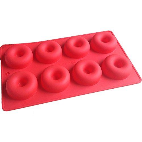 Karen Baking Donut-Form Runde Muffin-süßer Süßigkeit-Gelee-Fondant-Kuchen-Schokoladen-Form-Silikon-Werkzeugkastenform DIY