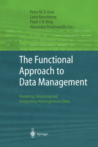 The Functional Approach to Data Management: Modeling, Analyzing and Integrating Heterogeneous Data by Gray Peter M D Kerschberg Larry King Peter J H