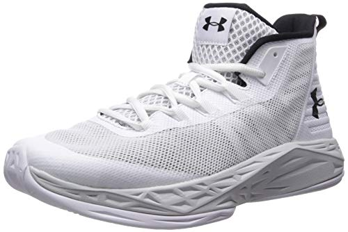 Under Armour Men's Jet Mid Basketball Shoe, White (105)/Elemental, 7 M US