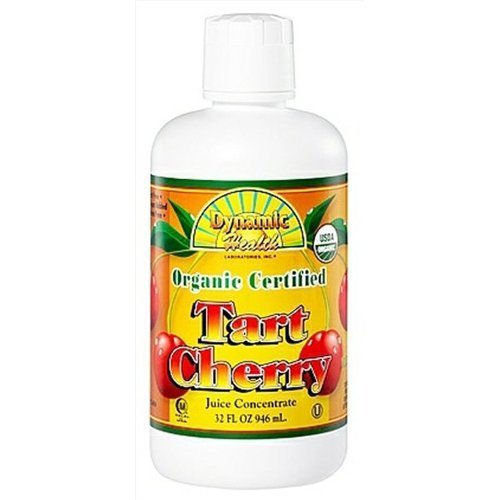 Dynamic Health 100 Percent Pure Organic Tart Cherry Juice Concentrate 32oz / 946ml by Dynamic (Cent Cherry)