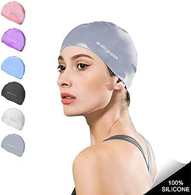 Msicyness Gorro de baño de silicona Piscina sombrero de piscina ...