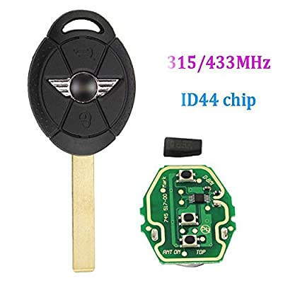 Dudely Replacement Key for Mini Cooper 2005 2006 2007, 315/433 MHz Car Key Remote: Automotive