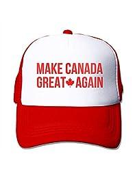 Waldeal Unisex Adjustable Make Canada Great Again Red Trucker Mesh Hat Snapback Baseball Cap