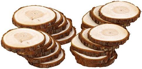 dailymall ウッド 木のスライス 木片 木材 DIY 工芸品 結婚式 装飾 約20個入り